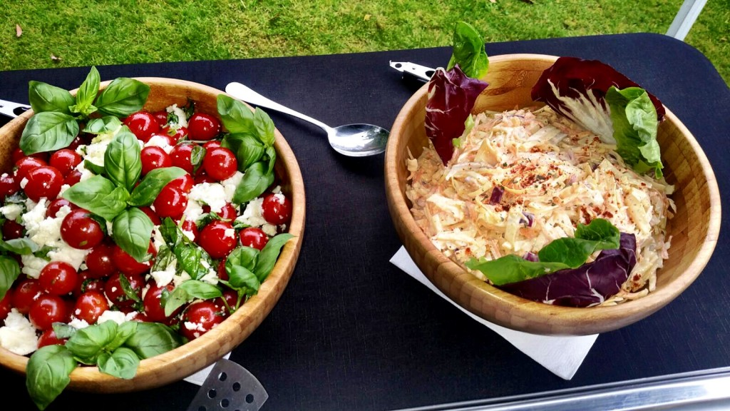 Tomato and Mozzarella Salad And Homemade Coleslaw